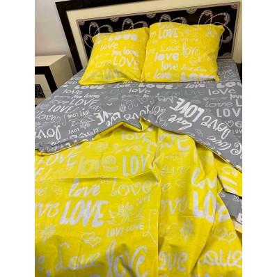 Постельное белье BestLine бязь gold BL-150116 Love жолтый