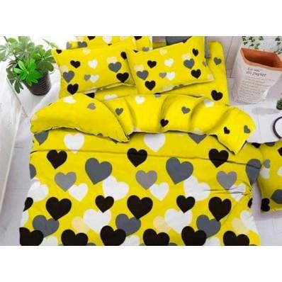 Постельное белье BestLine бязь gold BL-150133 Сердца на желтом