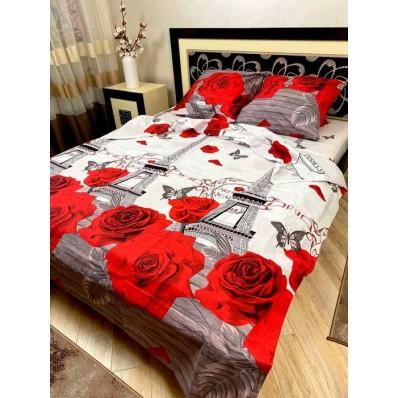 Постельное белье BestLine бязь gold BL-150174 Париж розы