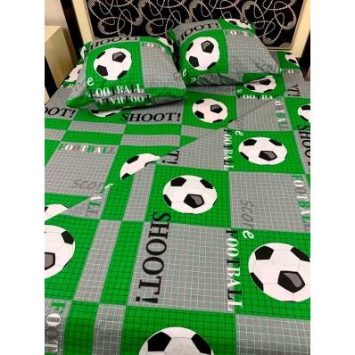 Постельное белье BestLine бязь gold BL-15076 Футбол зеленый