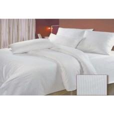Комплект постельного белья Крис-Пол бязь Белые в полоску (12345)