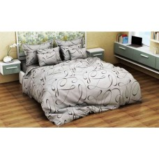 Комплект постельного белья Крис-Пол бязь на резинке Серые Вензеля (144047)