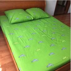 Комплект постельного белья Крис-Пол бязь на резинке Cactus Желто Зеленый (14529)