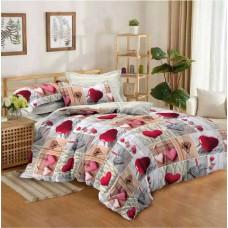 Комплект постельного белья Крис-Пол бязь на резинке Сердечка (144085)