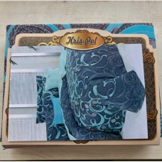 Комплект постельного белья Крис-Пол бязь Голубые Вензеля (159844)