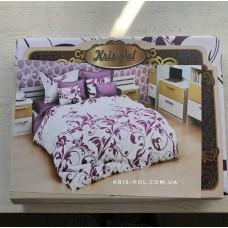 Комплект постельного белья Крис-Пол бязь Фиолетовые Вензеля (159945)