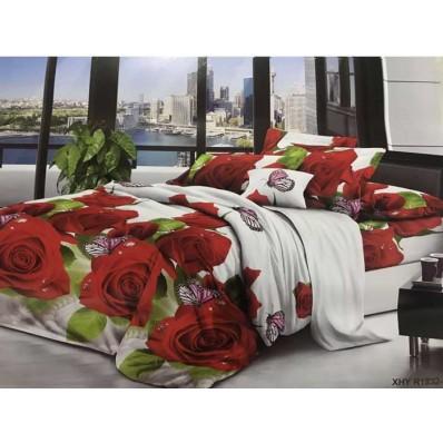 Комплект постельного белья Крис-Пол ранфорс Розы и Бабочки (181832)