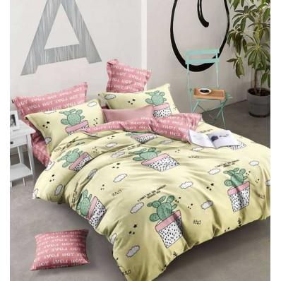 Комплект постельного белья Крис-Пол ранфорс Кактусы Изумруд (183173)