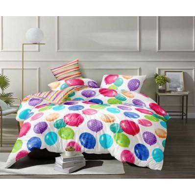 Комплект постельного белья Крис-Пол сатин люкс Разноцветные Шарики (725)