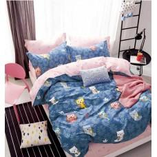 Комплект постельного белья Крис-Пол сатин люкс Разноцветные Совы (745)