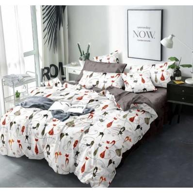 Комплект постельного белья Крис-Пол сатин люкс Семейство Кошек (751)