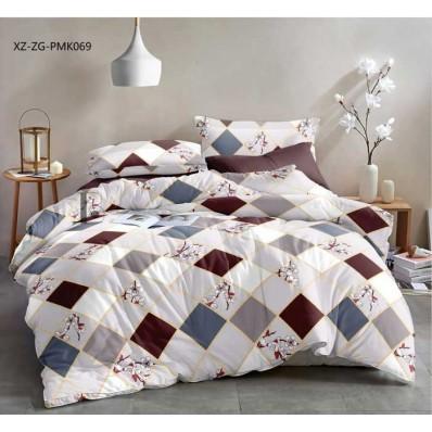 Комплект постельного белья Крис-Пол сатин Ромбы (1775)
