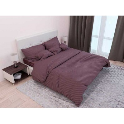 Комплект постельного белья Крис-Пол страйп-сатин Темно Шоколадный (541420)