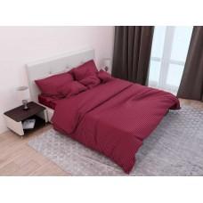 Комплект постельного белья Крис-Пол страйп-сатин Бордовый (541652)