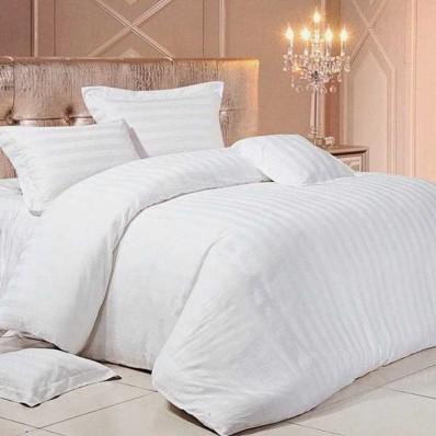 Комплект постельного белья Крис-Пол страйп-сатин Белый (54321)