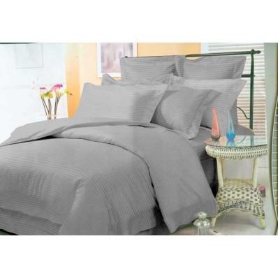 Комплект постельного белья Крис-Пол страйп-сатин Серый (543802)