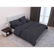 Комплект постельного белья Крис-Пол страйп-сатин Черный (544007)