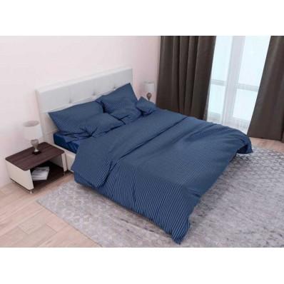 Комплект постельного белья Крис-Пол страйп-сатин Синий (544027)