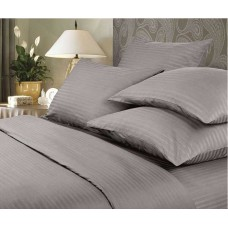 Комплект постельного белья Крис-Пол страйп-сатин Темно Серый (544402)