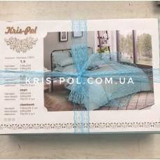 Комплект постельного белья Крис-Пол страйп-сатин Голубой (544610)