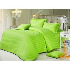 Комплект постельного белья Крис-Пол страйп-сатин Салатовый (545910)