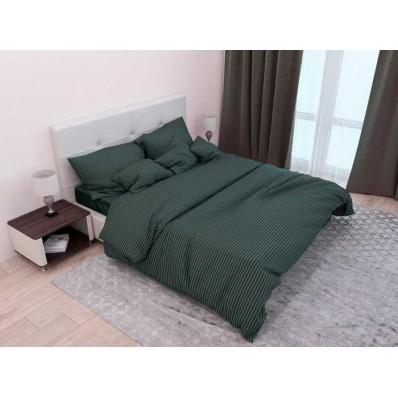 Комплект постельного белья Крис-Пол страйп-сатин Темно Зеленый (545918)