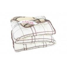 Одеяло стеганное двустороннее «клетка кремовая»