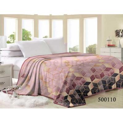 Плед Selena велсофт 500110 Абстракция Розовая