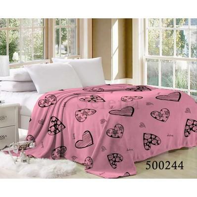 Плед Selena велсофт 500244 Сердечки Pink