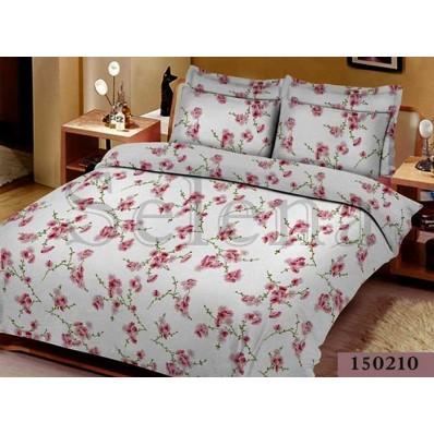 Комплект постельного белья Selena бязь light 150210 Сакура беж