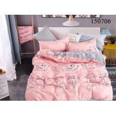 Постельное белье Selena бязь light 150706 Мяу Pink