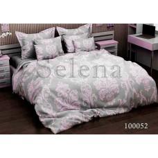 Постельное белье Selena бязь 100052 Вензель Розовый