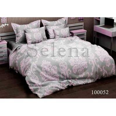 Комплект Постельное белье Selena бязь 100052 Вензель Розовый