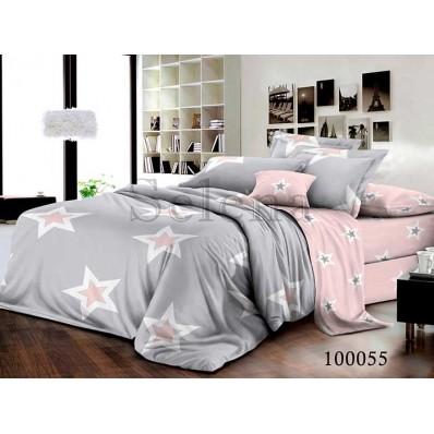 Постельное белье Selena бязь 100055 Звезды розовые