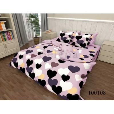 Постельное белье Selena бязь 100108 Сердечки Pink BK