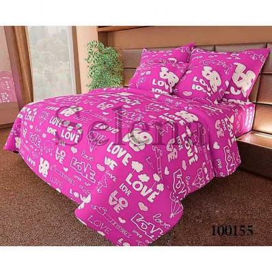 Комплект Постельное белье Selena бязь 100155 Love фиолетовый