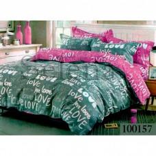 Постельное белье Selena бязь 100157 Love фиолетово-серый