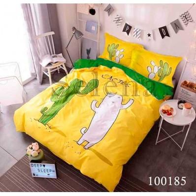 Комплект Постельное белье Selena бязь 100185 Кактусы Зеленые