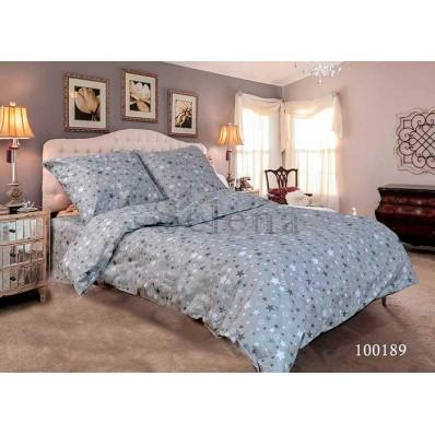 Комплект Постельное белье Selena бязь 100189 Звездочки Мелкие Grey