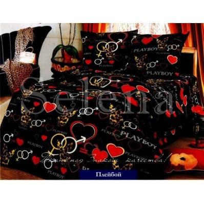 Комплект постельного белья Selena бязь 100237 Плейбой