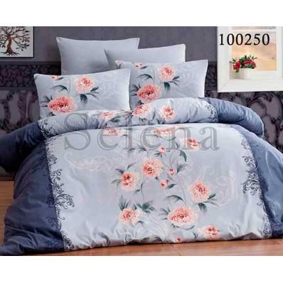 Комплект Постельное белье Selena бязь 100250 Пионы Blue