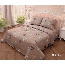 Постельное белье Selena бязь 100316 Треугольники коричневые