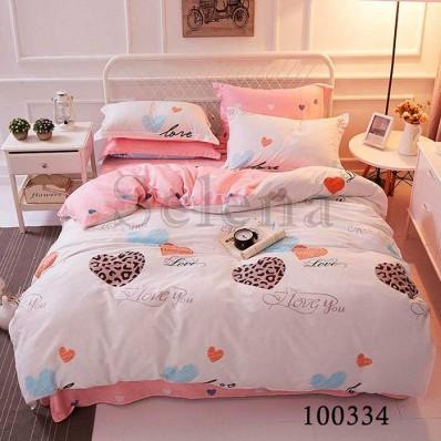 Постельное белье Selena бязь 100334 Сердечки розовые