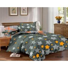 Постельное белье Selena бязь 100345 Звезды оранжевые