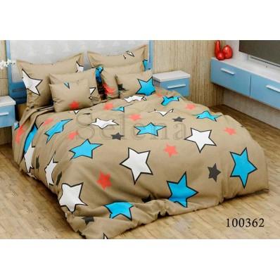 Постельное белье Selena бязь 100362 Звезды разноцветные