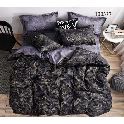Постельное белье Selena бязь 100377 Перо Black
