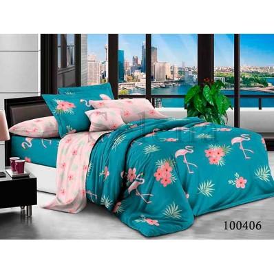 Комплект Постельное белье Selena бязь 100406 Фламинго