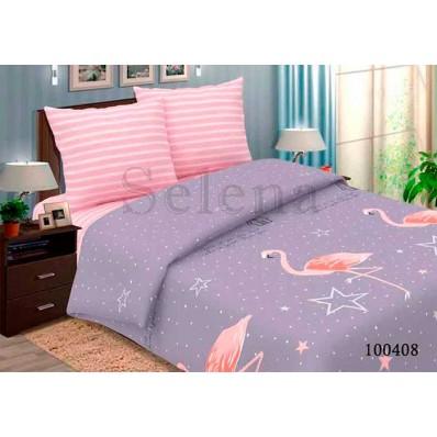 Комплект Постельное белье Selena бязь 100408 Звездный Фламинго