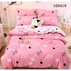 Постельное белье Selena бязь 100419 Мурчики розовые