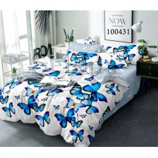 Постельное белье Selena бязь 100431 Полет бабочек grey
